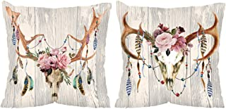 Vineland Throw Pillow Covers Set 18x18 Inch Beach Ocean Theme Farmhouse Decorative Throw Pillow Covers for Couch Sofa Bed ...