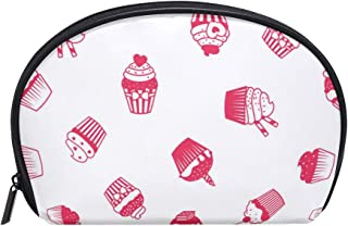 Sketch Pink Decorating Supplies Women's small cosmetic case for Cosmetic purse and Toiletries Organizer Bag Pack cosmetic travel bag