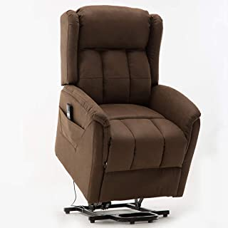 Power Lift Recliner Chair for Elderly, Bonzy Home Living Room Chair with Overstuffed Design, Power Lift Chair with Safety Motion Reclining Mechanism Recliner Chair for Home Theater Seating
