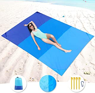KeShi Sand Free Beach Blanket, Large Oversized Waterproof Sand Proof Beach Mat, Outdoor Lightweight Portable Picnic Mat for Travel, Camping, Hiking and Music Festivals(82