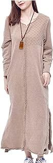 JEQ Women Long Casual Sweatshirt T-Shirt Dress Warm Jacket 100% Cotton Distressed Embroidery Long Sleeve/Pocket