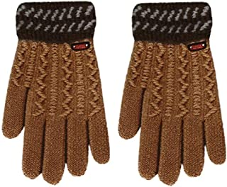 Gloves Winter Gloves Children Classical Girls Boys Winter Warm Gloves(Beige) (Color : Ginger)