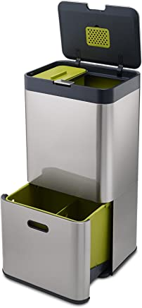 Joseph Joseph 智能客厅厨房垃圾桶智能分类垃圾桶纸篓杂物桶 Totem 60 不锈钢