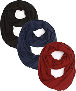 2 or 3 Packs Women Lightweight Infinity Scarf and Long Scarf