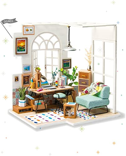 discount Rolife Miniature Dollhouse-DIY Wooden House sale Kit-3D House Puzzle Model-Creative Room Decorations with Furniture and LED-Best Birthday and Valentine's new arrival Day Gift online