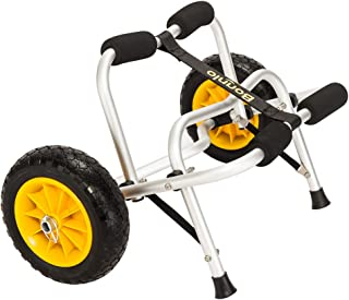 Bonnlo Boat Kayak Canoe Cart Carrier Dolly Trailer Tote Trolley Transport Inflation Free Solid Tires Wheel