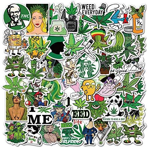 KATTERS Pegatinas de la Serie de Hojas de Cannabis de Dibujos Animados,...