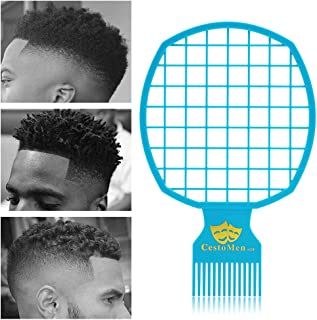 Magic Afro & Twist Comb - Weave Hair & Dreadlocks - For Barber and Personal Use - Easy to Clean (Blue)