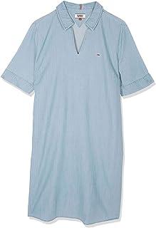 تومي جينز فستان للنساء - لون ازرق - فساتين عملية كاجوال