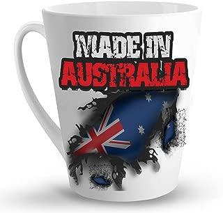 Makoroni - MADE IN AUSTRALIA - 12 Oz. Unique LATTE MUG, Coffee Cup
