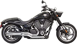 Bassani Xhaust 13-14 Victory Jackpot Road Rage 2-Into-1 Exhaust (Chrome/Mid)