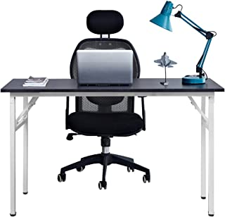Need Computer Desk Office Desk 47 inches Folding Table with BIFMA Certification Computer Table Workstation,Black White AC5CW-120