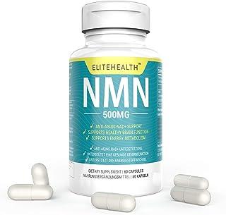 PUREST NMN para soporte NAD | 60 cápsulas | 500mg | Suplemento para el metabolismo antienvejecimiento y energético | Vegan Friendly (1)