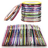 120 Rolls Nail Striping Tape Line Nail Art Decoration Sticker for DIY Nail Tip (40 Colors)