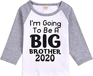 Toddler T Shirts Big Sister Brother Long/Short Sleeve Blouse, for Kids Baby Boy Girl