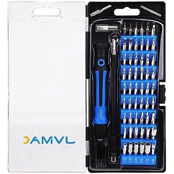 JVMAC 61in1 精密特殊ドライバーセット 修理ツール 多機能ツールキット iPhone Android 修理 分解 修復 開腹 トルクス / ヘクスローブ / 六角棒 / Y型 / 三角ネジ / 五角 / プラス / マイナス
