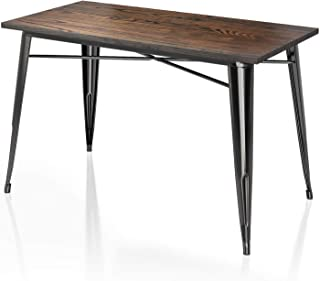 VIPEK 30 Inches Height Metal Dining Table Heavy-Duty...
