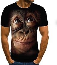 Orangutan Pattern 3D T-Shirt Hombres de Manga Corta Summer Fashion Top Animal Print 3D T-Shirt Ropa de Hombre
