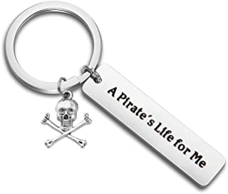 Pirates Keychain Skull Crossbones Charm Pirate of Caribbean Inspired Gift for Pirate Lover Pirate Jewelry