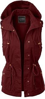 womens burgundy utility vest