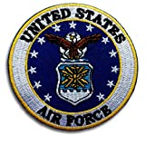 US Army Air Force USAF Patch Embroidered Iron on Liberty Eagle Military Veteran Naval Aviator Top Gun