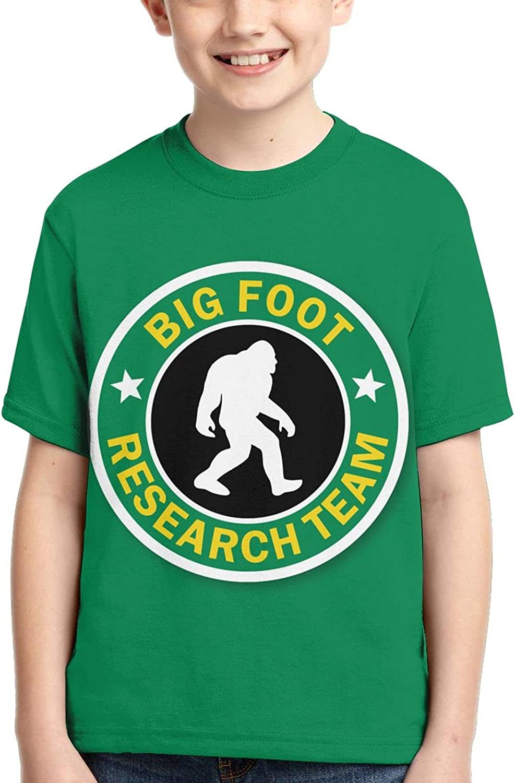 Xixidonggoujiba Sasquatch Bigfoot Research Team Boy Kid Tshirt Tee Shirt Soft Casual Tshirt 3D Clothes