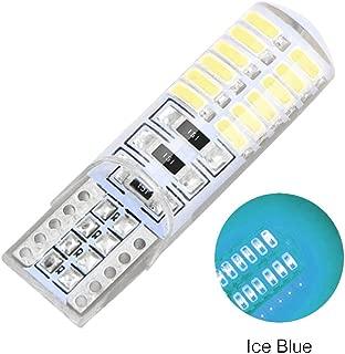 RUNGAO 1Pcs T10 w5w 24SMD Car LED Bulbs Canbus Auto Interior Silica Lamp Turn Signal Light Side Marker Ice Blue