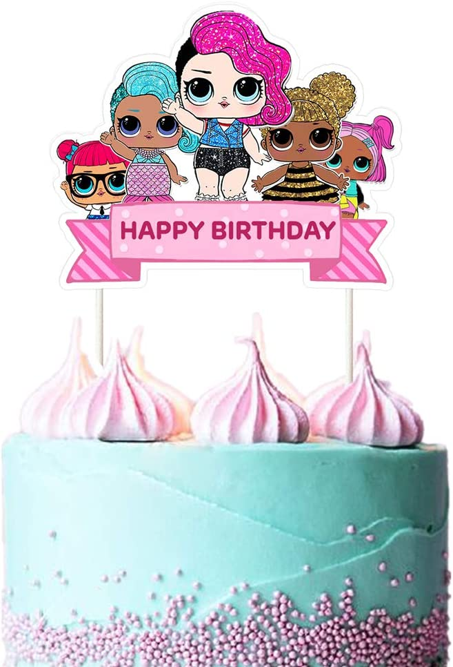 LOL Cake Topper Happy Pink low-pricing Decoratio High quality Birthday