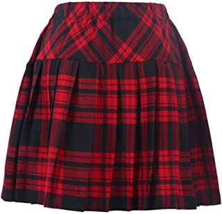 Best red and black pleated skirt Reviews