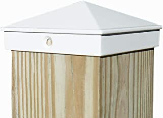 "4x4 Fence Post Cap (3 1/2"") 10 Pack White Powder Coated Aluminum - Mailbox, Lamp Post, Deck, Dock, Piling Caps"