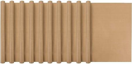 "Cutequeen 16"" x 24"" Teflon Sheet Heat Press Resistant Transfers Non-Stick Baking Mats 10pcs Brown"