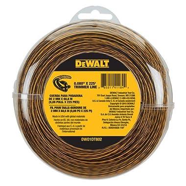 DEWALT DWO1DT802 String Trimmer Line, 225-Feet 0.080-Inch