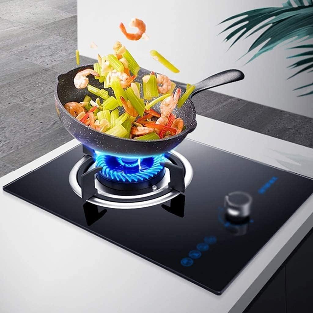 Gaz Hob Cuisinière Cuisinière à gaz intégré, brûleur de bureau, 4.5KW Fierce feu Troisième vitesse d'ajustement avec Flameout Protection (Couleur: Gpl) QIANGQIANG (Color : Lpg) Ng