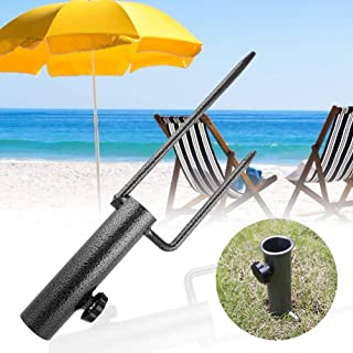 Parasol Anchor Umbrella Holder Sand Screw Stand Fishing Rods Heavy Duty Rotary Washing Line Parasol Airer Stand Base Outdo...
