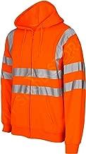 MyShoeStore Hi Viz Travail réfléchissants gegenüber visibilité Sweat-Shirt zippé à Capuche Veste Polaire Taille