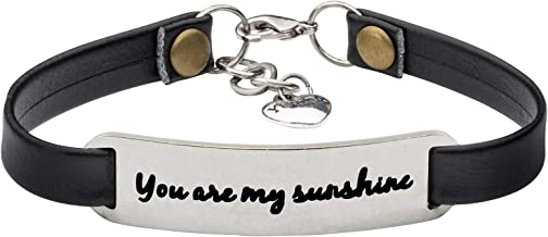 UNQJRY Bracelets for Women Inspirational Feminist Jewelry Personalized Gifts for Her