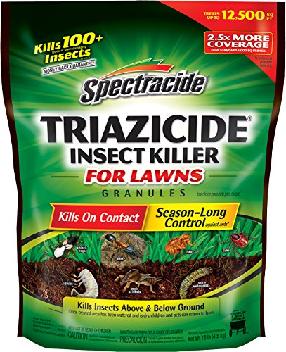 Spectracide Triazicide Insect Killer For Lawns Granules, 10-Pound, 4-Pack