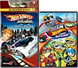 Metal Maniacs Team Hot Wheels Racing Animated Pack Origin of Awesome + AcceleRacers Speed of Silence Movie Cartoon with Toy Car