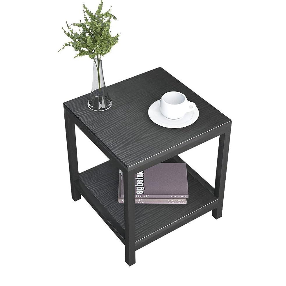 スリム祝福するやりすぎSoges サイドテーブル 木製 ベッドサイドテーブル オーク ナイトテーブル 机 テーブル CS-TVST-40-BK-N2