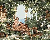 XSDFG Pintura por Números para Adultos con Pinceles y Pinturas Decoraciones para el Hogar -Mujer Jardinero(16×20 Pulgadas,Sin Marco)