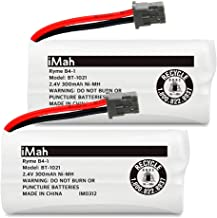 iMah BT-1021 2.4V 300mAh Cordless Phone Battery Compatible with Uniden BT-1016 BT-1025 BT-1008 D1481 D1780 D1785 BBTG0798001 BBTG0847001 Handset Telephone, Pack of 2