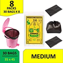 Ranco Poly Bags ™ Garbage Bags Medium Size Black Color For Home & Kitchen(35x45 INCH,Pack of 120)