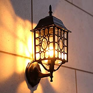 Exquisite Modern Lamps - Outdoor Exterior Wall Sconce Square Lantern on Iron Metal Waterproof Wall Light Outdoor Vintage W...