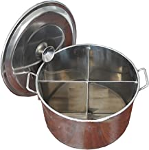 Voorraad Pot, Huishouden/Commerciële 201 RVS 4 Grid Soep Pot/Soep Emmer/Kookpot, met deksel, voor Gasfornuis/Inductie Forn...