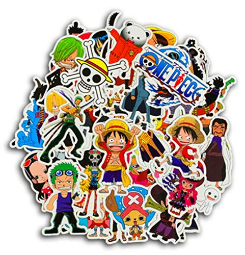 One Piece Sticker Personality Cartoon Anime Straw Hat Luffy Sauron Sticker Tide Brand Comics Waterproof Luggage Sticker 48 Sheets