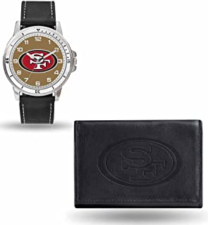 49ers watch and wallet set