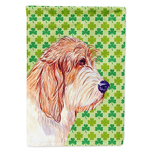 Petit basset griffon Vendeen St. Patrick de jour Drapeau de trèfle, Polyester, multicolore, S