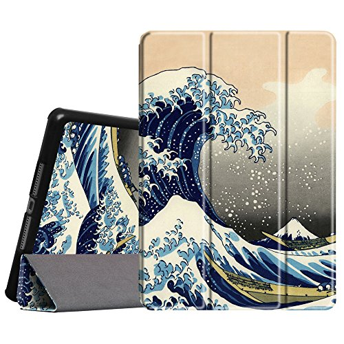 Fintie iPad Air Slim SmartShell Schutzhülle Z-Rough Sea