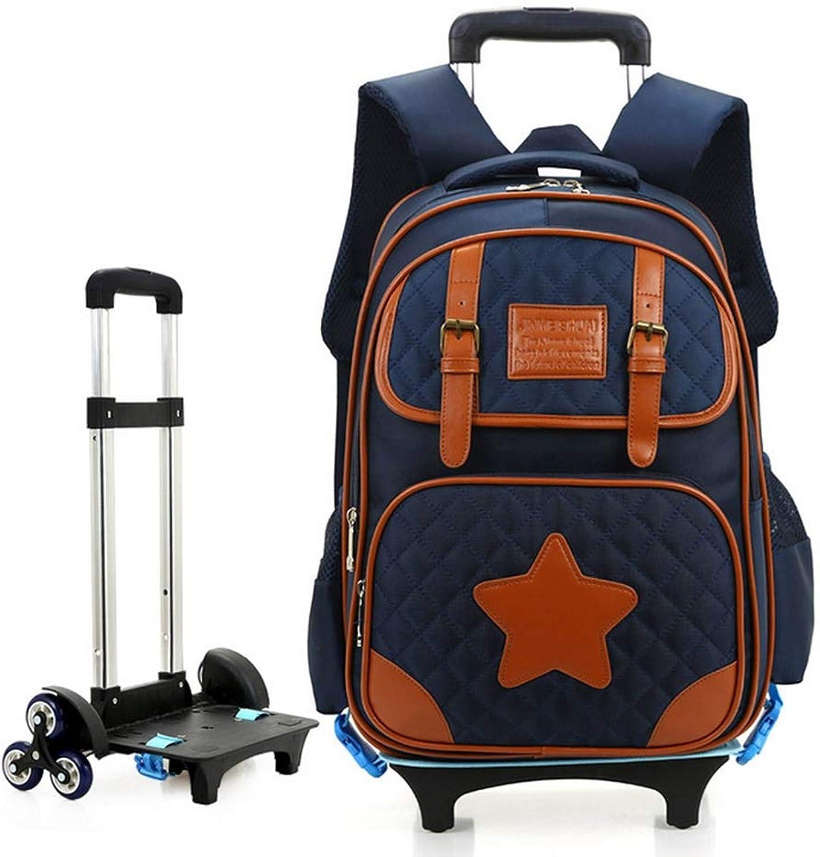 BYGenMai Schultrolley Schulranzen Trolley-Rucksack für Schüler mit sechs Rdern, die rollendes Gepck für Kinder transportieren,A