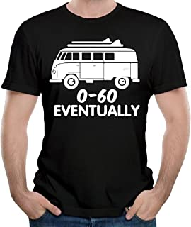 WYF Mens T-Shirt-Fashion 0-60 Eventually Black